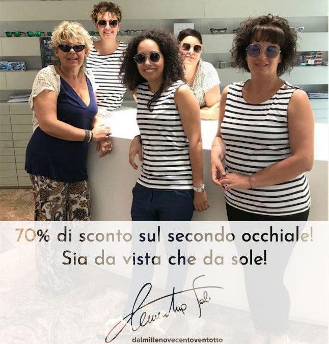 Promo Estate: 70% sul secondo occhiale